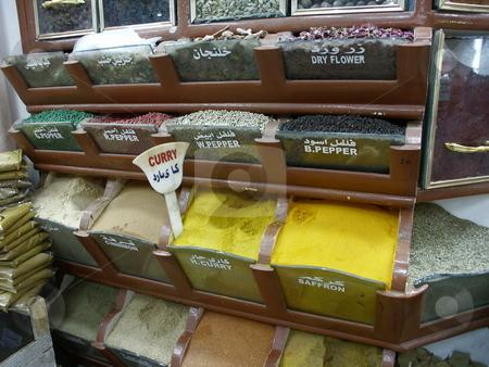 Bazaar of Aswan stock photo, Gew???rze am Basar von Assuan / bazaar by Thomas K?