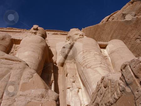Abu Simbel stock photo, Abu Simbel, Grabmahl des Pharao Ramses II. / Abu Simbel, tomb of the Pharaoh Ramses II by Thomas K?