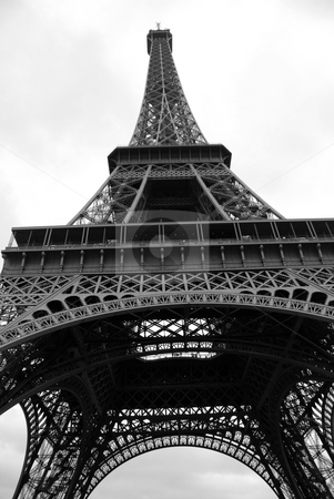 Eiffel tower stock photo, Eiffel tower,  the most famous monument of Paris, France by Bonzami Emmanuelle