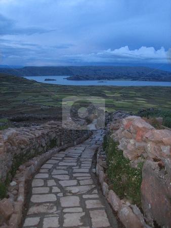Lake Titicaca, Peru stock photo, A path in Lake Titicaca Peru by Giovanna Tucker