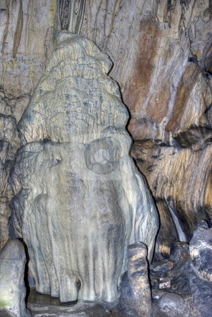 Stalagmite in cave stock photo, Stalagmite in Magura cave Bulgaria by Desislava Dimitrova
