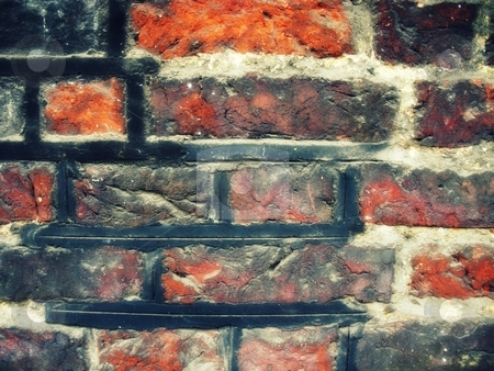 Brick stock photo, Background image of a worn brick wall by Cora Reed