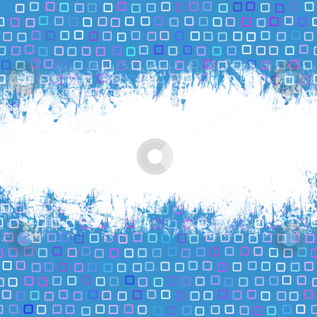 Funky Squares Grunge Layout stock photo, Grunge page layout over a funky squares pattern. by Todd Arena