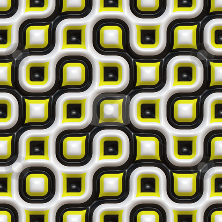 Checkered Organic Pattern stock photo, A yellow and black checkered texture that tiles seamlessly. by Todd Arena