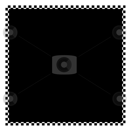 Checkered Frame stock photo, A black and white checkered flag border with copyspace. by Todd Arena