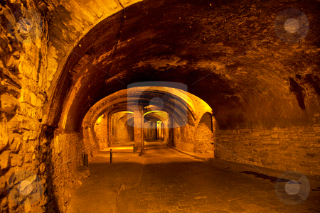 Underground Tunnel for Traffic, Guanajuato, Mexico stock photo, Tunnels from the Silver Mines are Under the Famous City of Guanajuato, Mexico.  Cars, buses and people travel in the tunnels, the