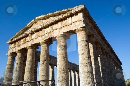 Temple of Segesta, wonderful Sicily stock photo, The Doric temple of Segesta (5th century BC, 6? by Roberto Marinello