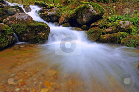 Waterfall stock photo, Waterfall in mountains, National Park in Poland by Adam Kraszewski