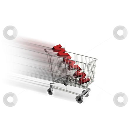 Shopping cart stock photo, Shopping cart E-commerce by Jesper Klausen