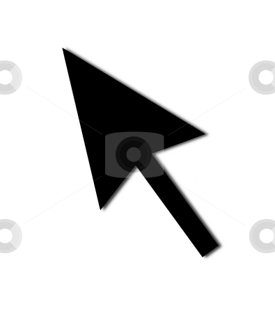 Cursor Arrow Mouse Black stock photo, Cursor Arrow for the use with mouse or other pointer. by Henrik Lehnerer