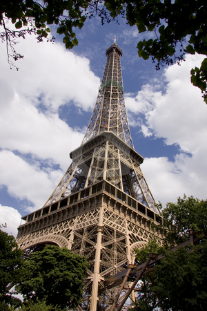 Eiffel Tower stock photo, Eiffel Tower in Paris by Ingvar Bjork