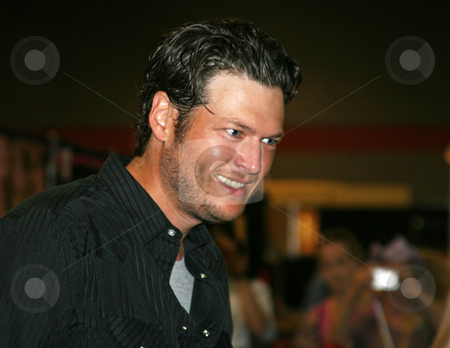 Blake Shelton - CMA Festival 2009 stock photo, Blake Shelton at the CMA Music Festival June 11-14, 2009 in Nashville, Tennessee signing autographs by Dennis Crumrin
