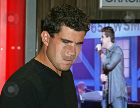 Josh Gracin - CMA Music Festival 2009 stock photo, Josh Gracin at the CMA Music Festival June 11-14, 2009 in Nashville, Tennessee signing autographs by Dennis Crumrin