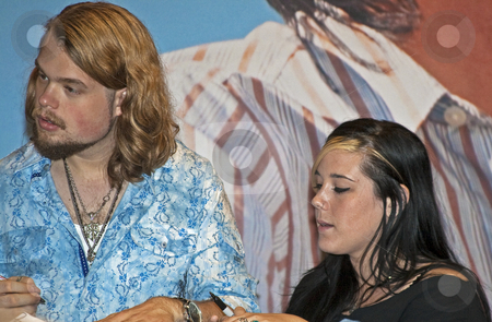 Caitlin and Will - CMA Music Festival 2009 stock photo, Caitlin and Will at the CMA Music Festival June 11-14, 2009 in Nashville, Tennessee signing autographs by Dennis Crumrin