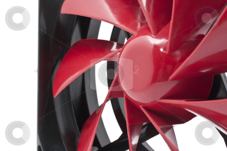 Computer Fan stock photo, Red color computer CPU or Case Fan by Kenneth Ro