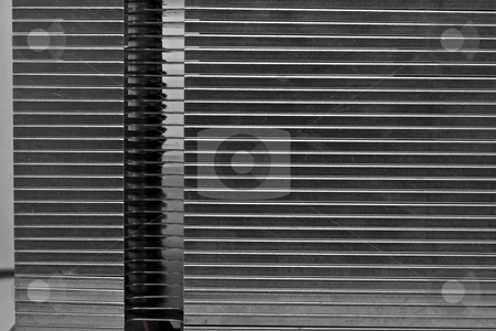 HEAT SINK stock photo, Computer CPU HEAT SINK side wall texture by Kenneth Ro