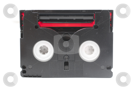 Mini DV Tape stock photo, Mini DV Tape loading and tape photo with white background by Kenneth Ro