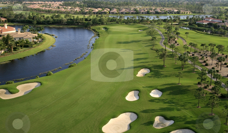 Florida Golf Course stock photo,  by Kristopher Strach