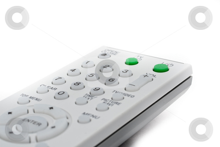 Remote Controller for TV and DVD stock photo, Remote Controller for TV or DVD with different angle and usage with white background by Kenneth Ro