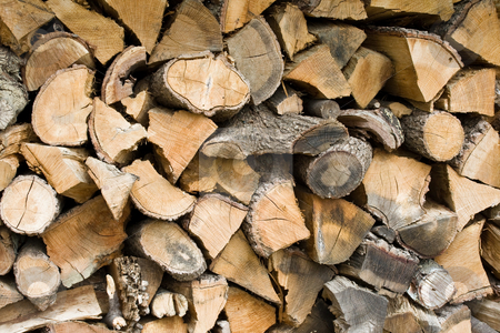 Stack of wood. stock photo, A stack of wood ready to be burned by ANTONIO SCARPI