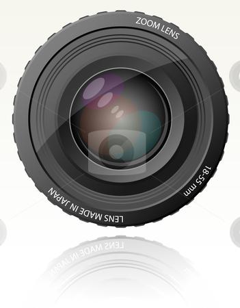 Camera zoom lens - vector illustration stock vector clipart, Camera zoom lens - vector illustration by Adrian Grosu