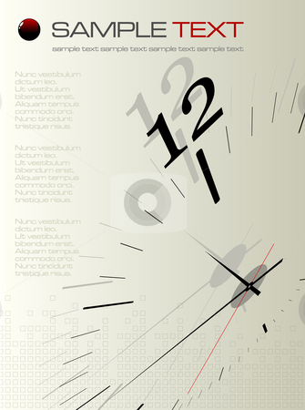 Time concept composition - vector illustration stock vector clipart, Time concept composition - vector illustration by Adrian Grosu
