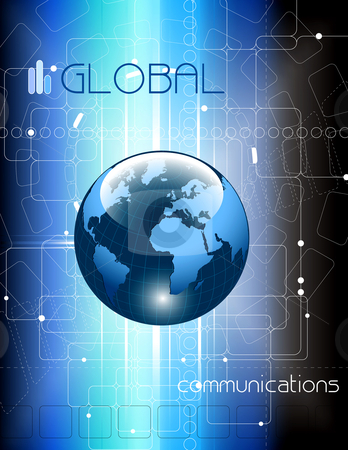 Communications concept background - vector illustration stock vector clipart, Communications concept background - vector illustration by Adrian Grosu