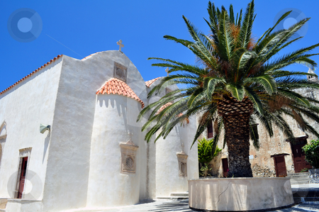 Preveli Monastery stock photo, Travel photography: The ancient Preveli Monastery in Southern Crete, Greece by Fernando Barozza