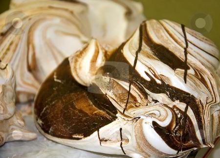 Chocolate Meringue Cookies stock photo, Scrumptious tempting chocolate meringue swirled large cookies. by Valerie Garner