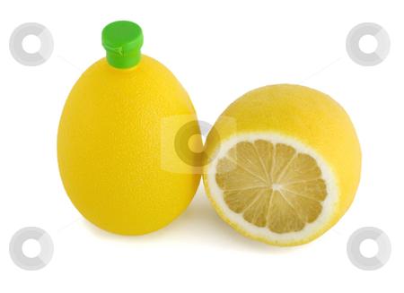 Lemon juice stock photo, Lemon juice plastic bottle isolated on white background by Vladyslav Danilin