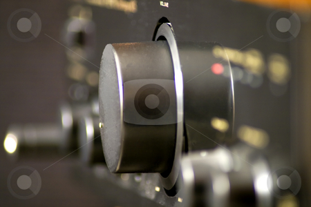Stereo stock photo, Closeup of volume knob of an hi-fi by Fabio Alcini
