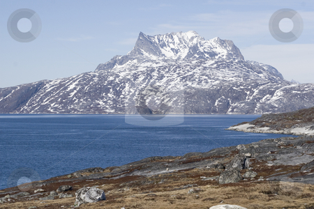 Sermitsiaq stock photo, Sermitsiaq, the majestic mountain near the capital of Greenland, Nuuk by Anders Peter