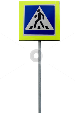 Information sign stock photo, Information sign pedestrian close-up isolated on white background by Vladyslav Danilin
