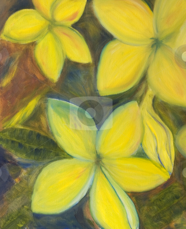 Flower Painting stock photo, An impressionist oil painting of a floral arrangement. Adobe RGB color profile. by Stefan Breton