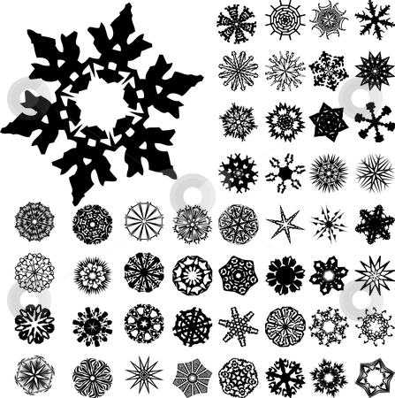 Ornaments stock vector clipart, Set of 49 highly detailed complex ornaments by Augusto Cabral Graphiste Rennes