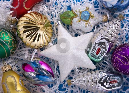 Set of christmas decorations stock photo, Set of christmas decorations by Valery Kraynov