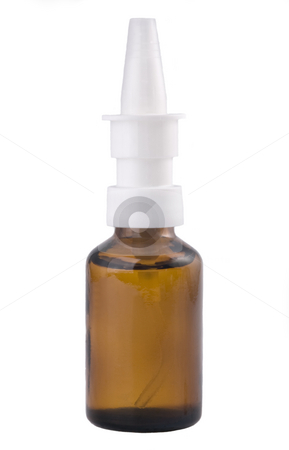 Glass spray container for medicine stock photo, Glass spray container for medicine by Valery Kraynov