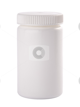 plastic container for medicine stock photo, plastic container for medicine, isolated on white background. by Valery Kraynov