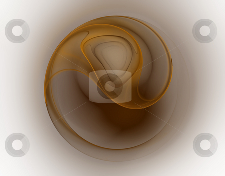 Swirl stock photo, Abstract background illustration - brown swirl on white by J?