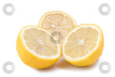 Isolated lemon fruit stock photo, Isolated lemon fruit on white background by Lawren