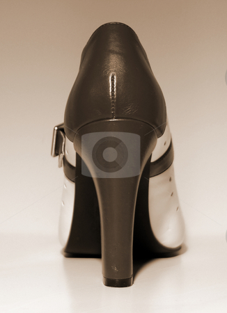 High Heel stock photo, An end view of a ladies high heel by Tom Weatherhead