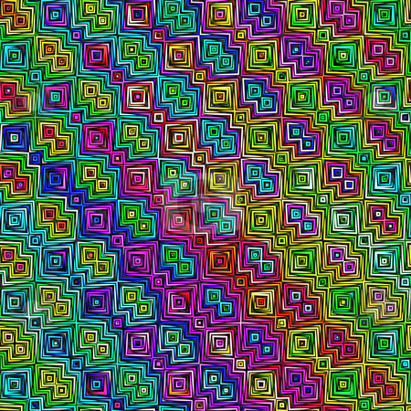 Scratch block pattern stock photo, Seamless texture of grunge drawn bright colored lines in squares by Wino Evertz