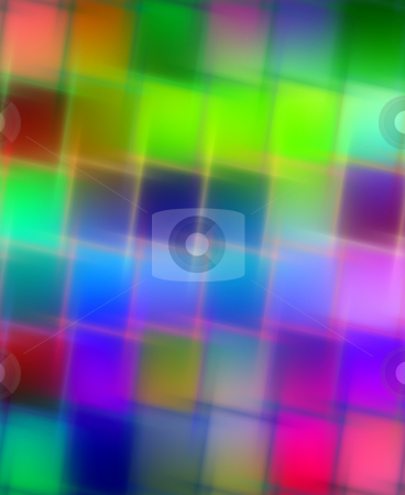 Blurred bright squares stock photo, Texture of vibrant colored cubes with blur by Wino Evertz