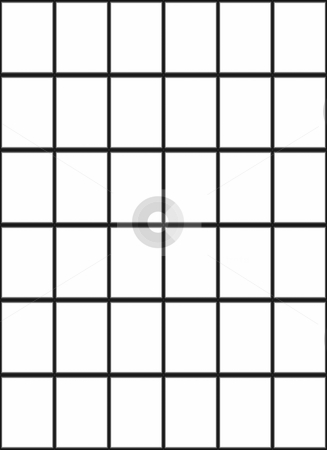 3d window pattern stock photo, Seamless texture of black framework and white panes by Wino Evertz