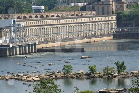Wilson Dam stock photo, Wilson Dam in Florence, Alabama by Debbie Hayes