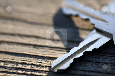 Keys stock photo, A close-up of a set of keys. by Kristen Wood