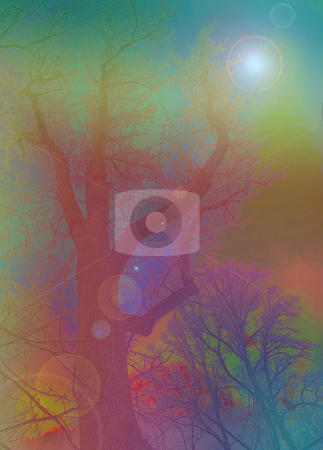 Psychedelic Nature Scene - Digital Art stock photo, Psychedelic Nature Scene - Digital Art by Dazz Lee Photography