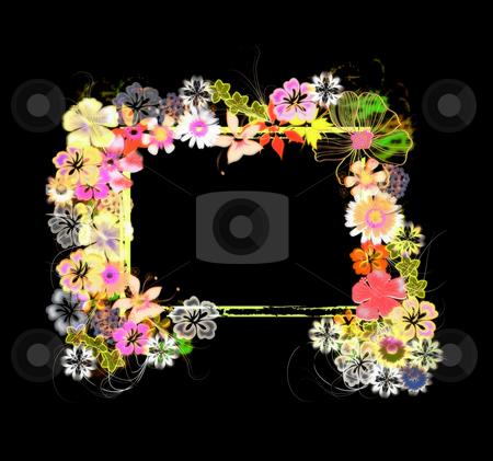 Frame /  border Illustration stock photo, Flower Border / frame Illustration by Laura Smith