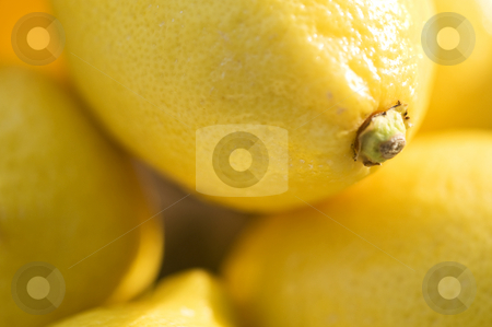 Lemons, fruit, yellow stock photo, A pile of bright, sunny lemons. by Kristen Wood