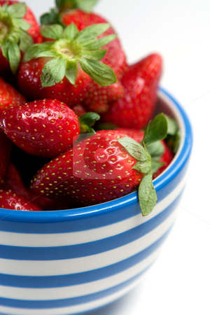 Strawberries stock photo, A bowl of delicious fresh strawberries by Jose Wilson Araujo